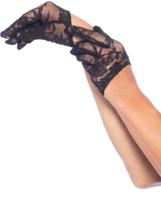 Fashion Accessories Cropped Lace Gloves