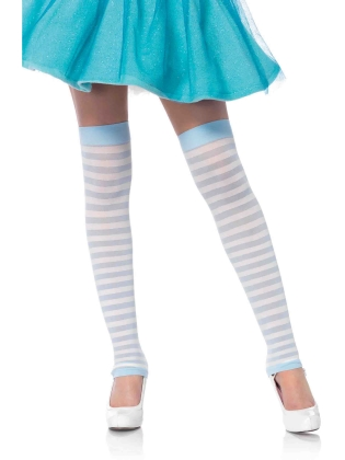 Stockings Opaque Stripe Leg Warmer