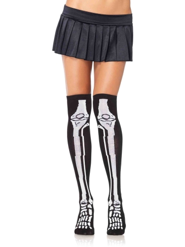 Stockings Skeleton Over the Knee Socks