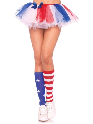 Stockings Stars and Stripes knee highs