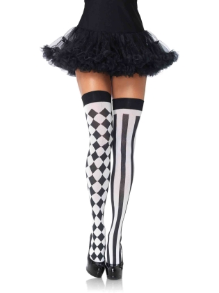Stockings Harlequin Thigh Highs