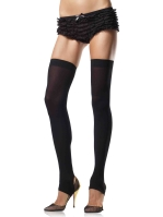 Stockings Opaque stirrup thigh highs