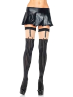 Stockings Pinstriped Suspender Thigh Highs