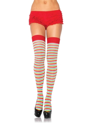 Stockings Mini Rainbow Thigh Highs