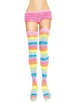Stockings Neon Rainbow Thigh Highs