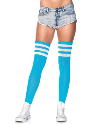 Stockings Athlete Thigh Hi with Striped Top