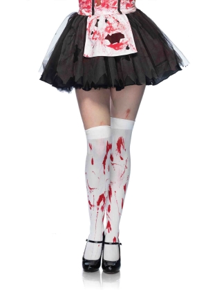 Stockings Bloody zombie thigh highs