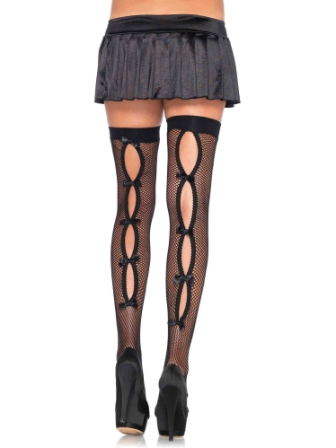 Stockings Keyhole Bow Backseam Thigh Highs