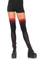 Stockings Dripping blood woven socks
