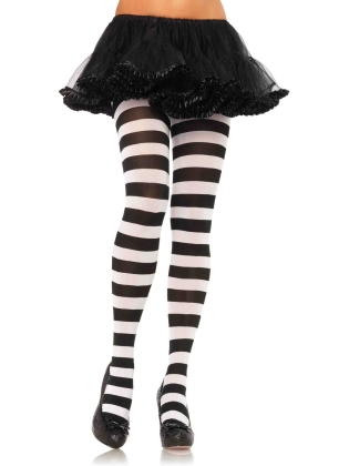 Stockings Wide Stripe Opaque Tights