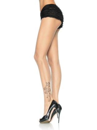 Stockings Spandex sheer tattoo pantyhose