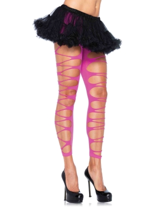 Stockings Footless Shredded Tights