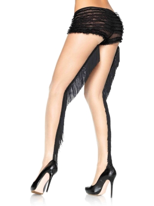 Stockings Fringe Backseam Pantyhose