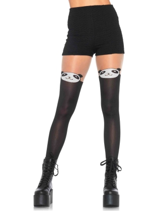 Stockings Spandex panda opaque pantyhose