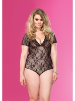 Lingerie Floral Lace Backless Teddy