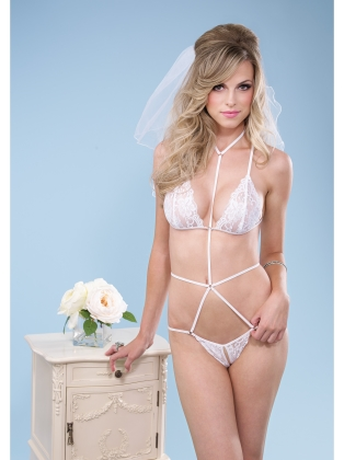 Lingerie Cage strap Lace Teddy