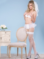 Lingerie Satin shelf bra and garter panty