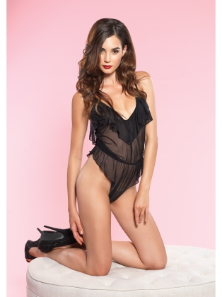 Lingerie High cut Flutter Teddy