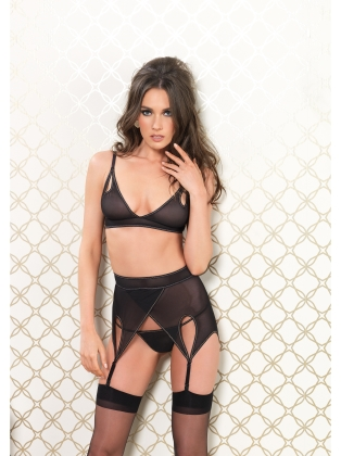 Lingerie High Waisted Tear Drop Garter