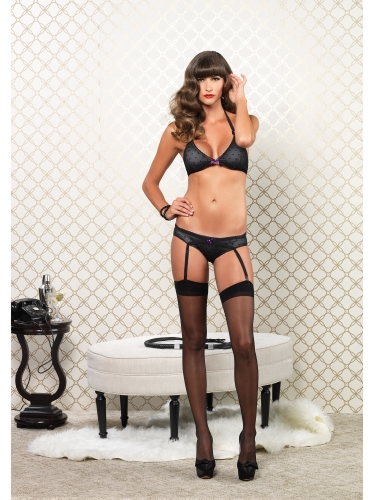 Lingerie Garter Panty with Cage Strap Back