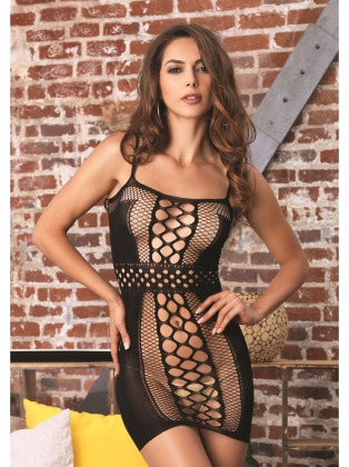 Lingerie Seamless multi net mini dress