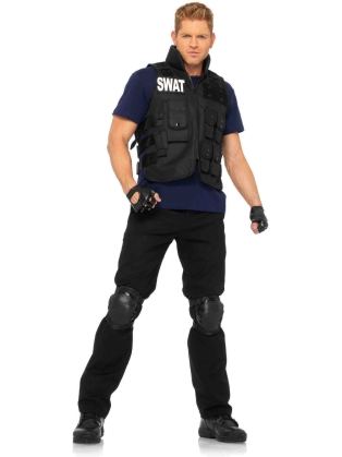Costumes SWAT Commander Men 's