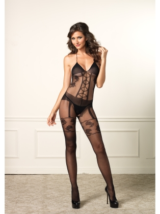 Stockings Corset Teddy Bodystocking