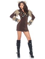 Costumes Cozy Viking Fleece Dress