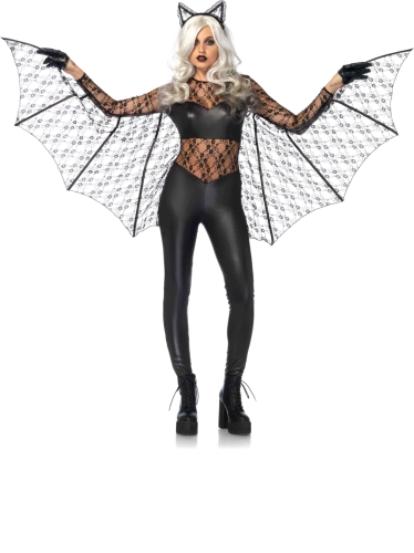 Costumes Magic Bat Lace Catsuit