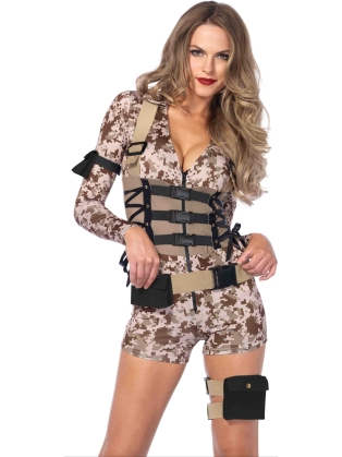Costumes Battlefield Babe Halloween