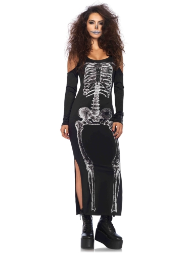 Costumes Skeleton Cold Shoulder Dress
