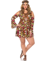 Costumes Retro Starflower Hippie Dress
