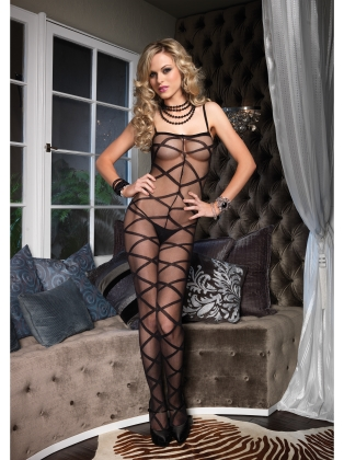 Stockings Criss Cross Sheer Bodystocking