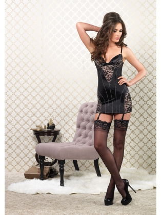 Dresses Stretch Satin Garter Dress
