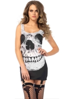 Costumes Skull Garter Halloween Dress