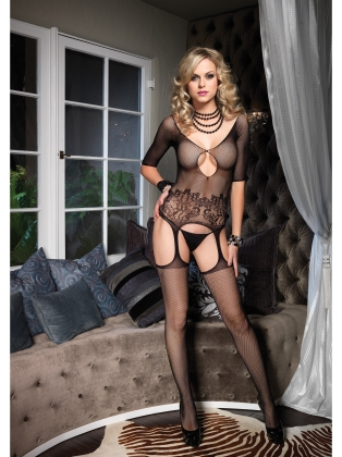 Stockings Cut Out Attached Bodystocking