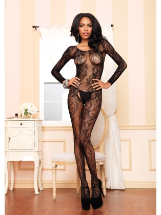 Stockings Crotchless Swirl Bodystocking