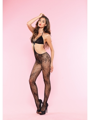Stockings Elegant Stappy Lace Bodystocking