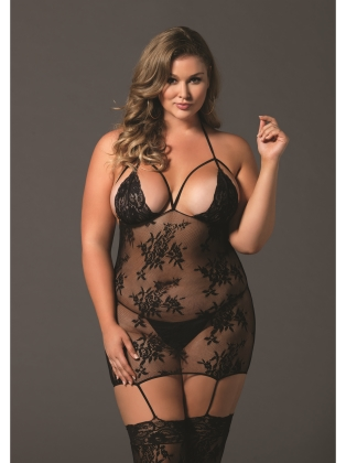 Stockings Intimates Cage Strap Bodystocking