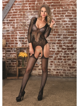 Stockings Romantic Floral Sexy Bodystocking