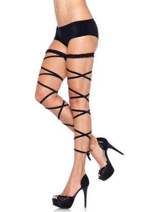 Dance Wear Garter Leg Wrap Set