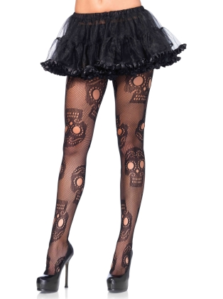 Stockings Sugar Skull Net Pantyhose