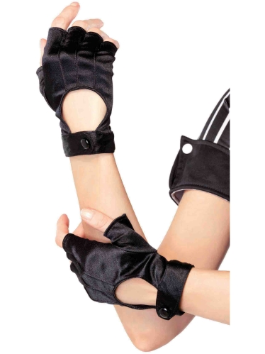 Costume Accessories Fingerless Motercycle Gloves