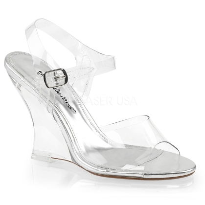 Pleaser Low Heel Platform Sandals