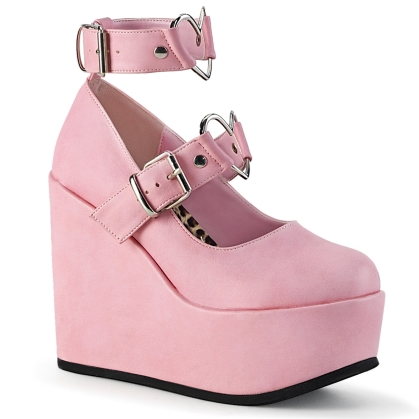 poison 99 2 baby pink vegan leather