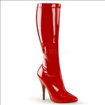 Superhero Stretch Knee-High Boot Red Patent