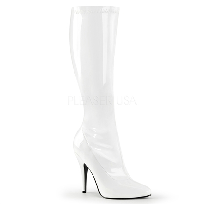 Superhero Shoe Plain Stretch Knee-High Boot