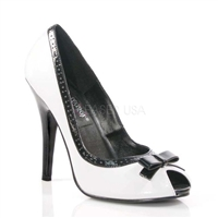 Two-Tone Black White Pumps 5 Inch Heel Shoes