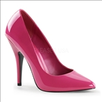 Hot Pink Pointed Toe 5 Inch Heel Women Shoes