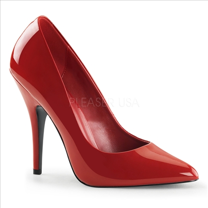 Red Pointed Toe 5 Inch Contemporary Women Shoes